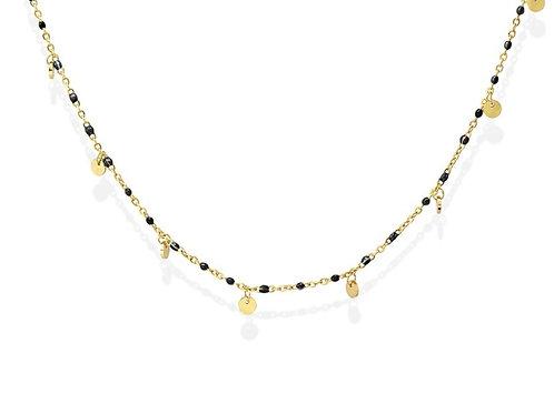 CO105 Collar de acero quirúrgico bañado en oro