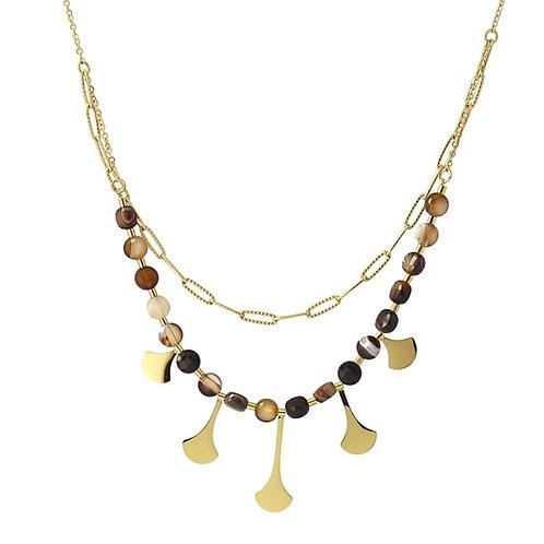 CO95 Collar de acero quirúrgico bañado en oro