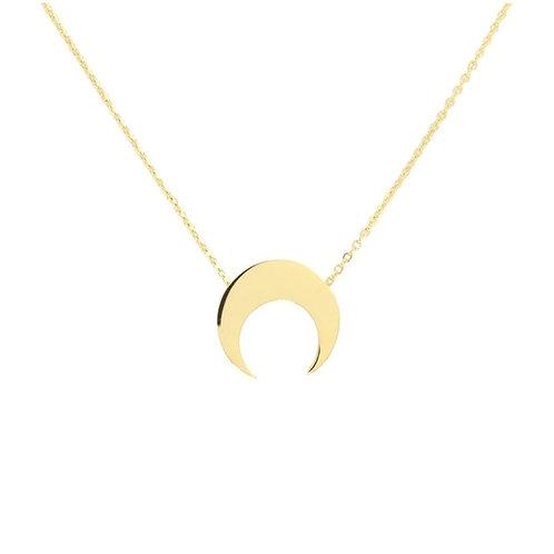 C71 Collar de acero quirúrgico bañado en oro.