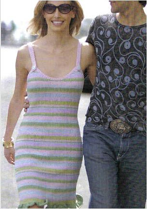 Love Actually striped dress