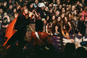 "The peace and love 1960s come to a violent end at Altamont '69 in ""Gimme Shelter"""