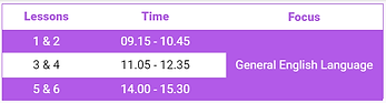 English For General Purposes Timetable.p