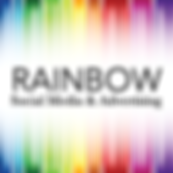 Rainbow Social Media & Advertising Logo.