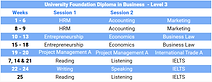 University Foundation Diploma Descriptio