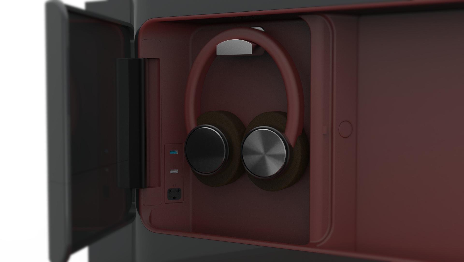 Head phone storage