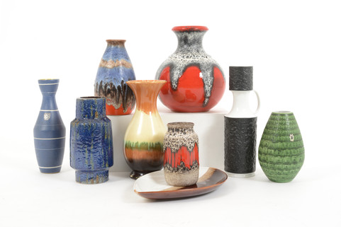 A cluster of our pots that featured in Heals