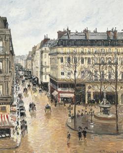 Rue Saint-Honoré por la tarde.