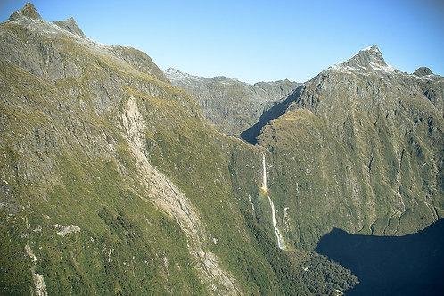 Gary White: Distant Waterfall, Fiordland National Park, New Zealand