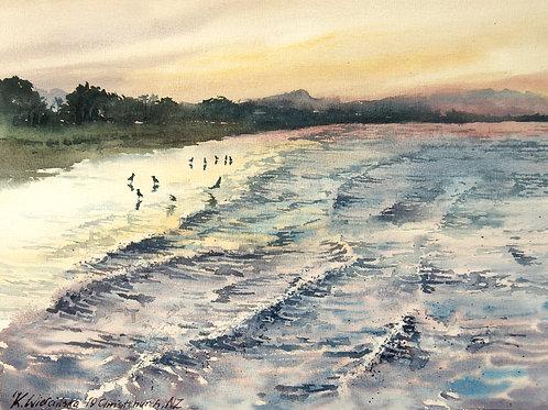 Kasia Wiercinska: Sunset by the Ocean