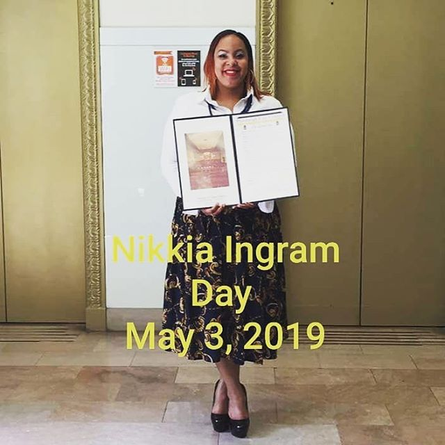 "In support of ""Nikkia Ingram"" Day in the"