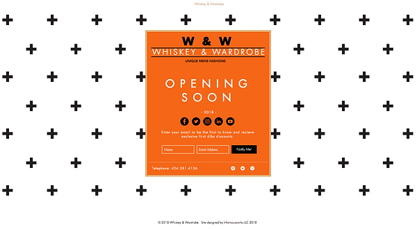 Whiskey and Wardrobe landing page by Infamousworks
