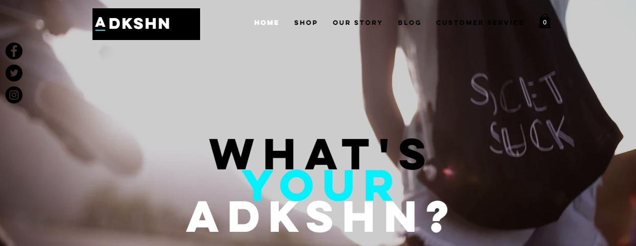 Adkshn Clothing Website