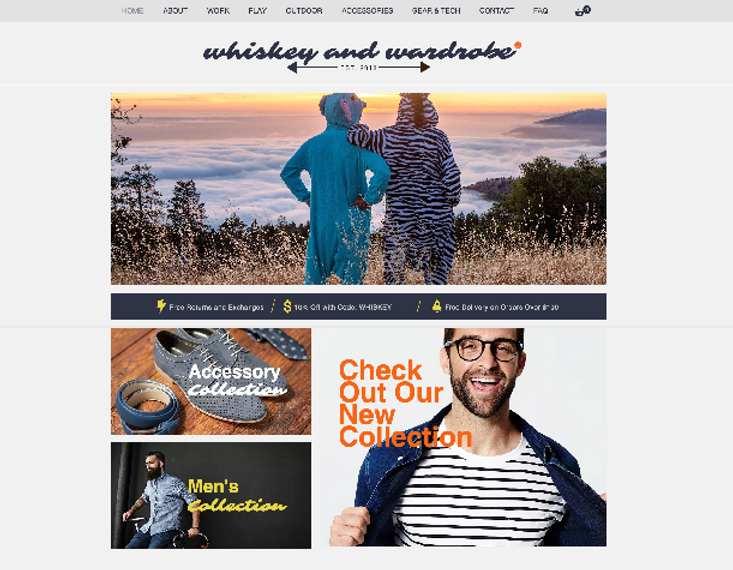 Whiskey & Wardrobe website designed by Infamousworks