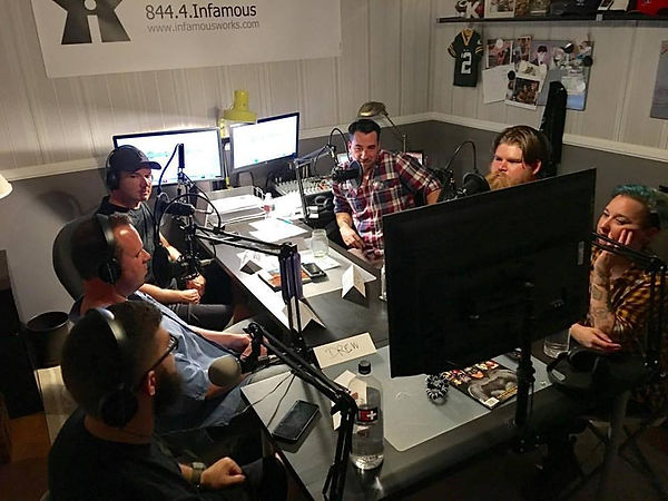 TIC Podcast being recorded in the Infamousworks Podcast Studio