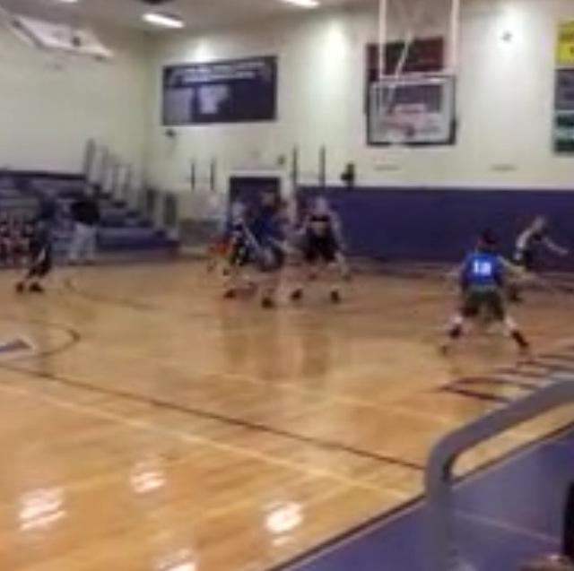 Our Bakerhoops 5th grade girls team just beat a 8th and 9th grade team 27-23.