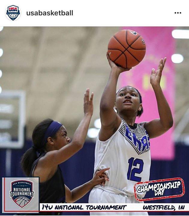 Amaris Baker featured on USA Basketball Instagram Site