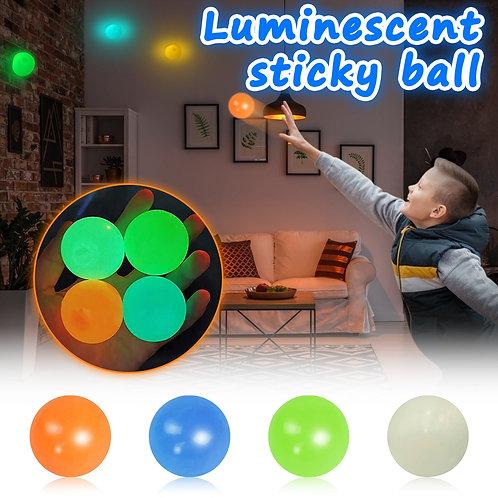 4pc ADHD Sticky Toy Stress Luminescent Ball