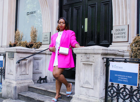 HOW TO STYLE A HOT PINK BLAZER...