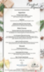 Christmas Group menu - Navidad Menu 2019