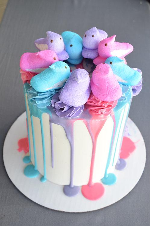 Peeps Drip Cake
