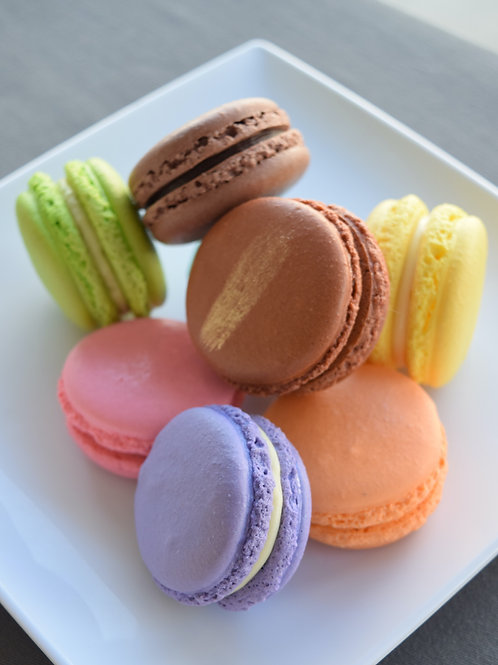 Assorted French Macarons - Box of 6