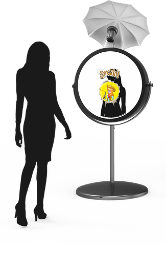 Beauty Mirror Booth Frame Entertiment Corpus Christi Photo Booth