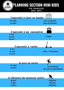 PLANNING Mini Kids 1ER TRIMESTRE 2021-20