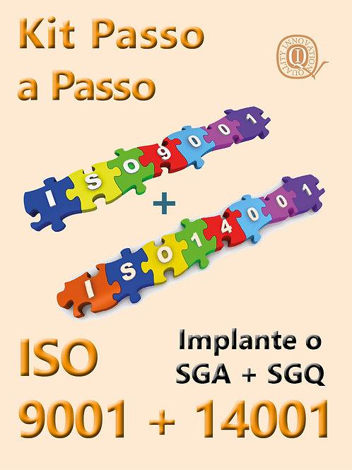Kit Passo a Passo ISO 9001+14001 com todos os materais