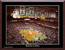 Boston Garden with Historic Boston Celti