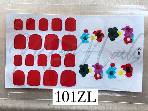 Pedicure Nail Polish Stickers 101ZL