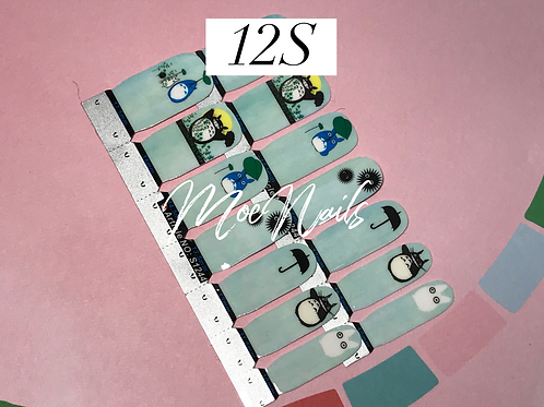 No-Heat Vinyl Nail Strips 12S