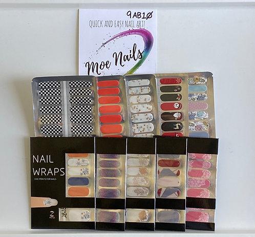 10 Piece Nail Polish strips Sampler - 9AB10