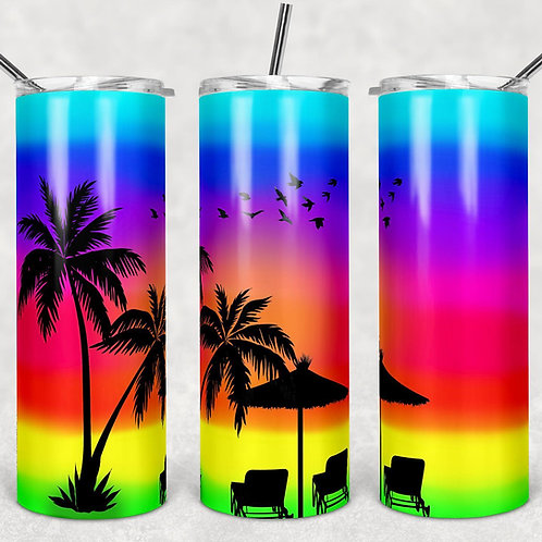 Tropical Island Sublimated Drinkware
