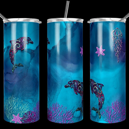 Dolphin Sublimated Drinkware