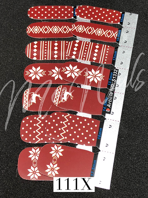Christmas No-Heat Vinyl Strip 111X