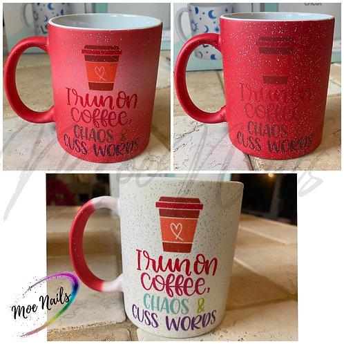 Coffee Chaos Cuss Words Sublimated Coffee Mug