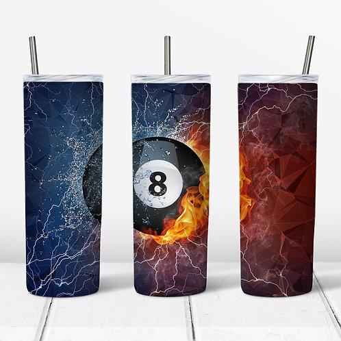 Eight Ball 8ball Sublimated Drinkware