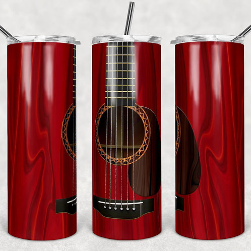 Red Guitar Sublimated Drinkware
