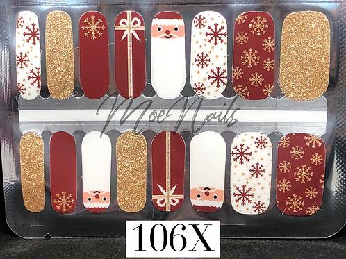 Christmas Nail Strip 106X