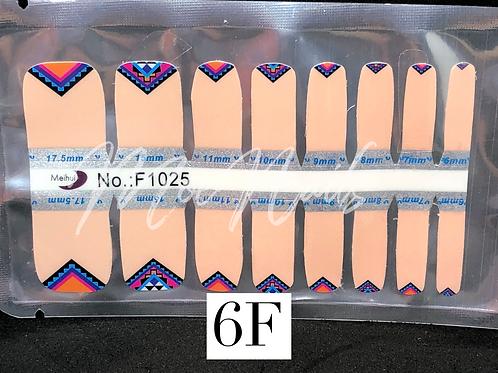 Pedicure Nail Polish Strip 6F