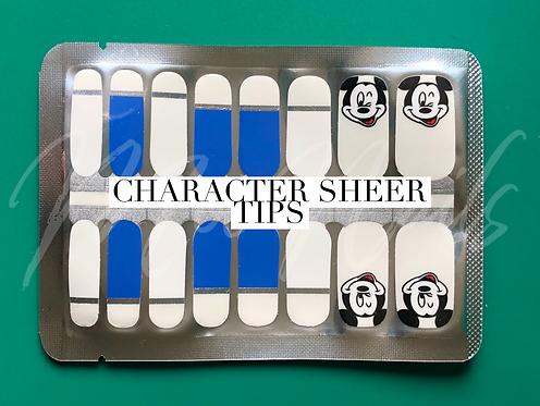 Nail Polish Strip SHEER Character Tips