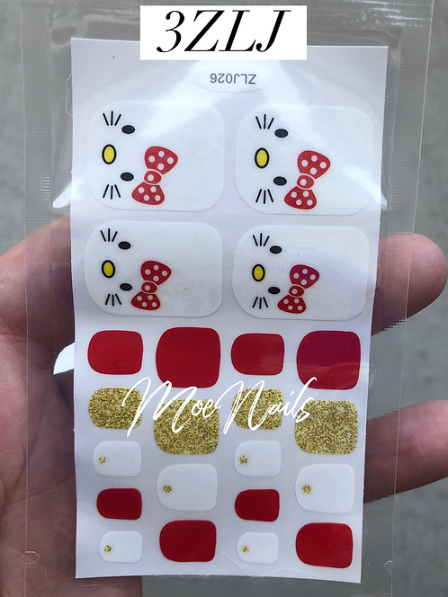 Pedicure Nail Polish Stickers 3ZLJ