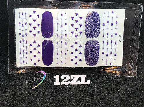 Nail Polish Stickers 12ZL