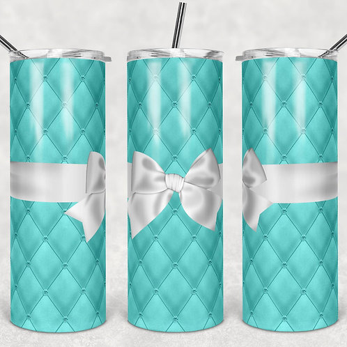Blue Quilted Sublimated Drinkware