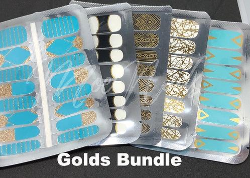 """Nail Polish Strip """"Golds"""" Bundle"""