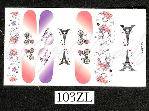 Nail Polish Sticker 103ZL