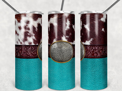 Cowhide buckle - Sublimated Tumbler