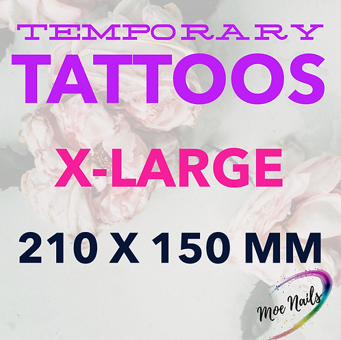 210*150mm Temporary Tattoos