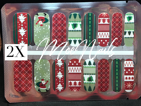 Christmas Nail Strip 2X