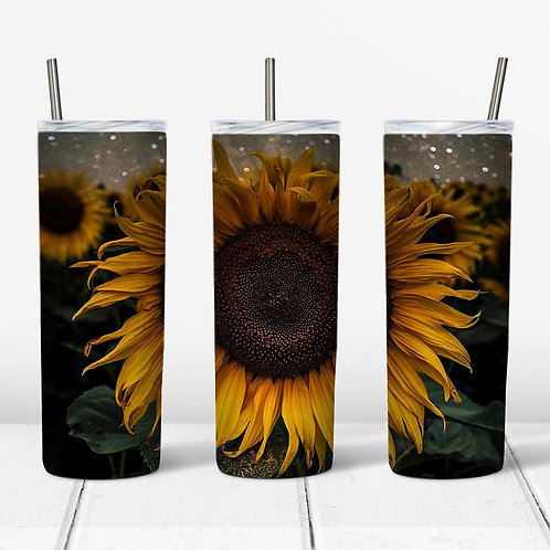 Large Sunflower Sublimated Drinkware